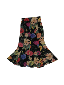 Girls Skirt Flowers