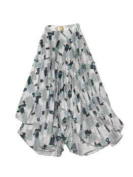 Girls Skirt grey dotts