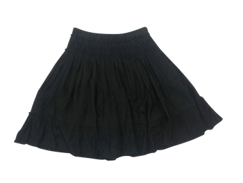 Girls Skirt Plan Black