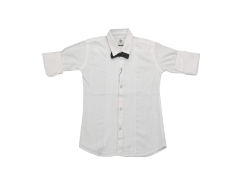 Boys Shirt   white tie