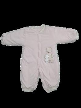 Infant/Baby - Warm Babygrow pink