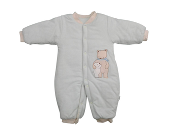 Infant/Baby - Warm Babygrow Blue