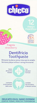 Chicco Toothpaste (Strawberry), 50 ml ( 12M+ )