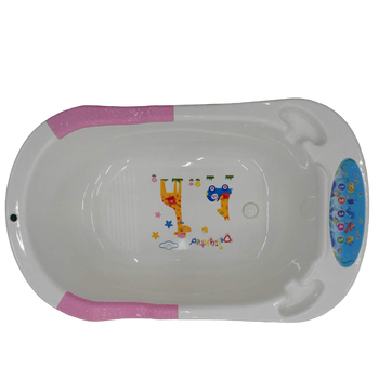 Baby bath tub pink with music