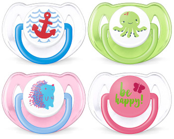 Avent free flow pacifiers (soother) 6-18m
