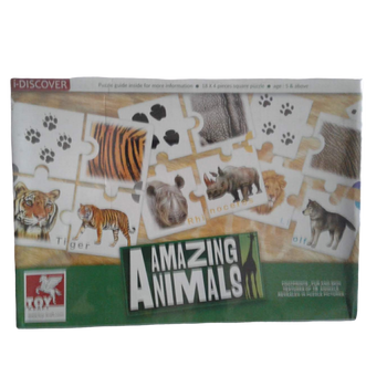 Amazing Animals ( 18x4 pieces square puzzle) 5+Age