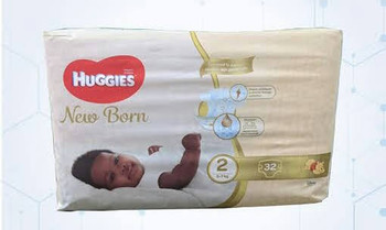 Huggies New Born Diaper Size -2 ( 5-7 KG ) 32Pcs