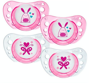 LATEX SOOTHER 0-6M - PINK (2PK)