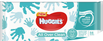 Huggies Baby Wipes, All Over Clean ( 56 Pcs )