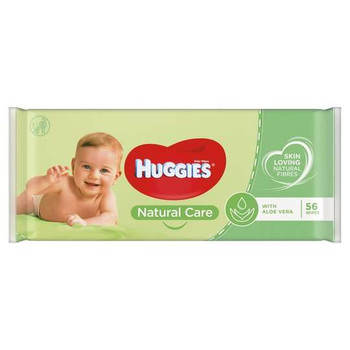 Huggies Baby Wipes w/Aloe ( 56 Pcs )
