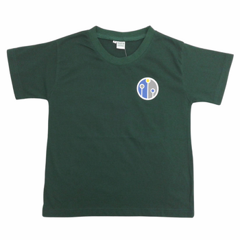 house t shirt-green-front