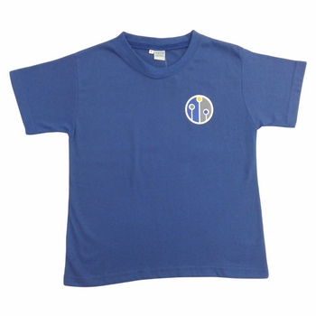 house t shirt-blue-front
