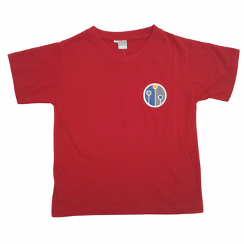 house t shirt-RED-front
