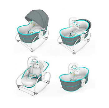 Mastela 5 in 1 Baby Bassinet Rocker Rocking Napper, Bounce, Chair with Removable Baby Bassinet & Melody (Multi Color)(6037)