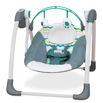 Mastela Deluxe Portable Baby Swing Toddler Swing - Blue