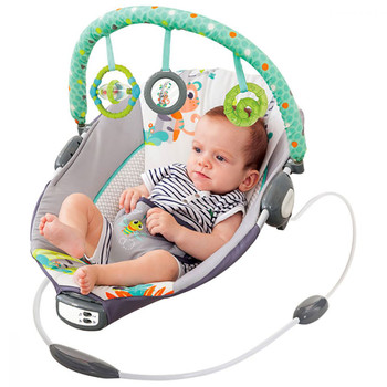 Mastela Toddler to Newborn Baby Rocker Musical Bouncer Chair (Multicolour)