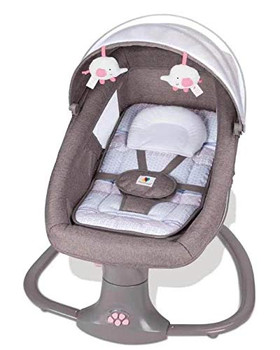 Mastela 3-in-1 Deluxe Multi-Functional Bassinet/Swing (Grey and Pink)08106