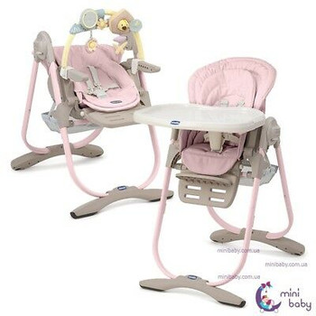 POLLY  MAGIC HIGH CHAIR ( PINK/ COCOA ) 0M+