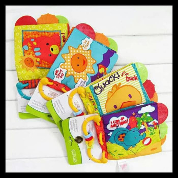 Carter's baby infant cloth books with teether BB sound and beeds