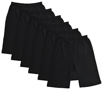 Plain Black Cycling Shorts for Girls & Kids