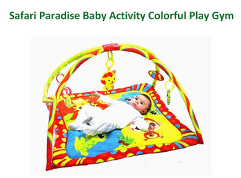 Mastela Safari Paradise Baby Activity Colorful Play Gym Padded Play Mat