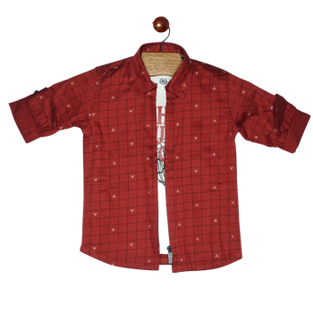 Boys Shirt - Dark Red (2pcs)