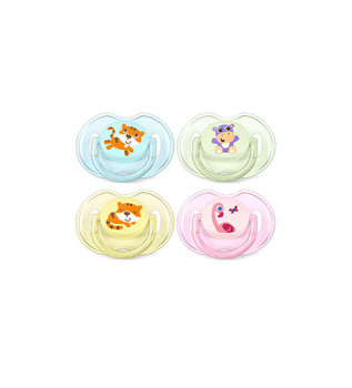 Orthodontic Pacifier, 0-6 Months, Animal Design