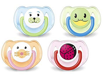 Orthodontic Pacifier, 6-18 Months, Animal Design