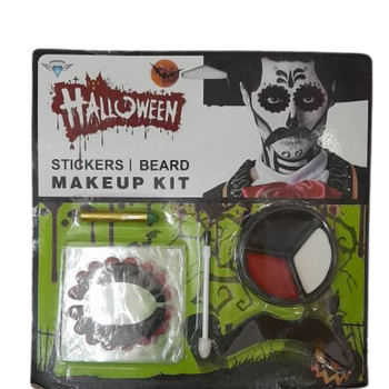 Halloween Stickers Beard Makeup Kit