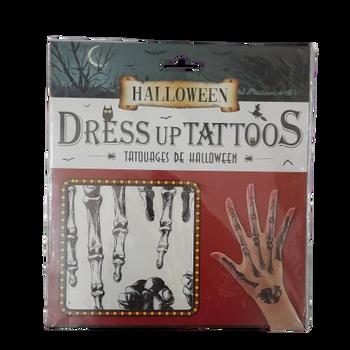 Halloween Dress up Tattoos - Hand