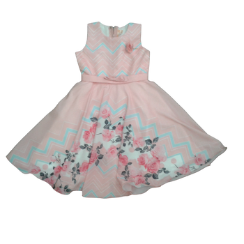 "Girls Dress ""Peach """