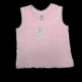 Infant vest-  cute pink