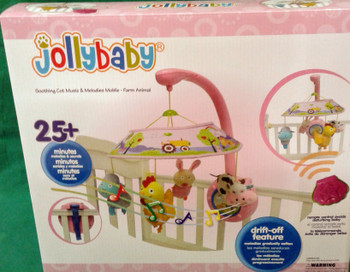 Soothing Cot Music & Melodies Mobile - Farm Animal