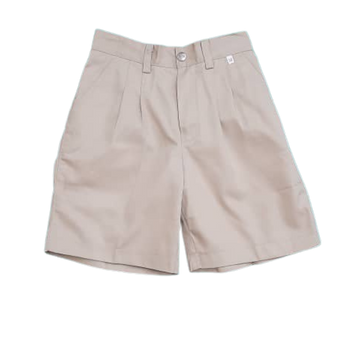 Half  Elastic Shorts - Light Khaki