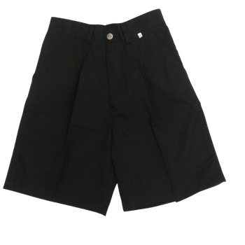 Half  Elastic Shorts ( Long ) - Black
