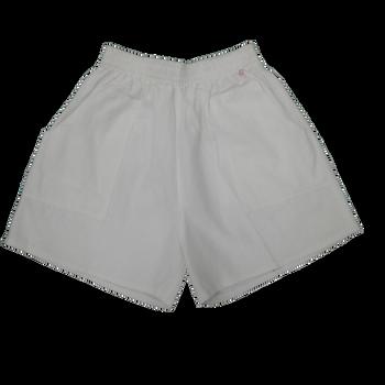 Full Elastic Shorts-white