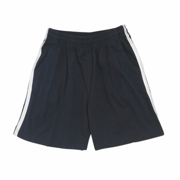Sports shorts -  blue w/stripe
