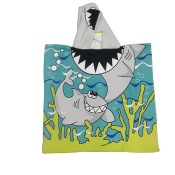Swimming Towel -with hood - Baby shark