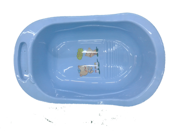 baby bath tub sky blue ( happy baby )