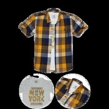 Boys - Shirt - Slim Fit  Yellow