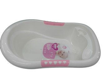 baby bath tub cream pink ( baby wares )