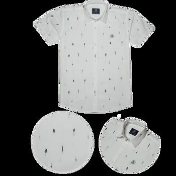 Boys - Shirt -  Royal White
