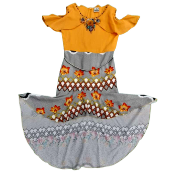 Girls skirt and top - yellow