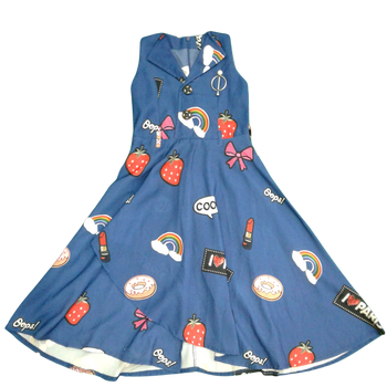 "Girls Dress  ""  Blue  cool   """