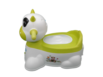 Baby potty : green cow :