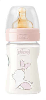 Original Touch - 0M+ Slow Flow Baby Bottle 150 Ml - Pink