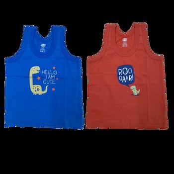 """100% cotton Infant Vest """"  Blue  """""""
