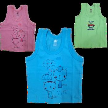 """100% cotton Infant Vest """" Print """""""