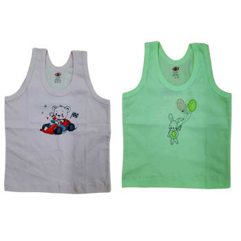 """100% cotton Infant Vest """" Baby Color  """""""