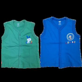 """100% cotton Infant Vest """" solid color  - 3   """""""